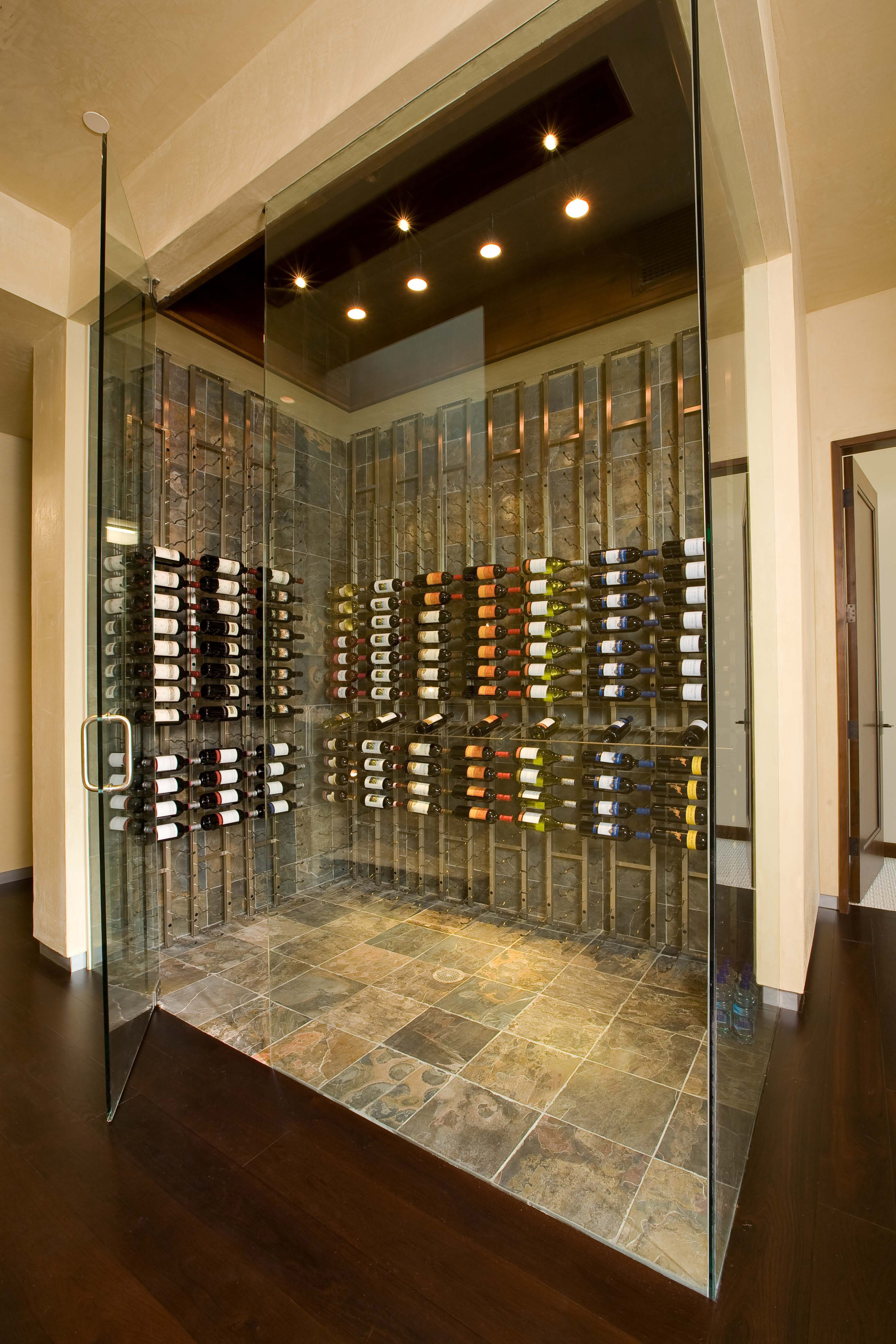 Seattle and bellevue custom wine cellars wine racks for Wine cellar in floor